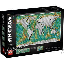 31203 MAPA ŚWIATA (World Map) - KLOCKI LEGO ART Zabawki
