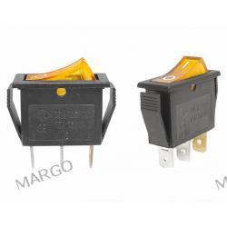 Przełącznik MK 111 podświetlany 230V żółty