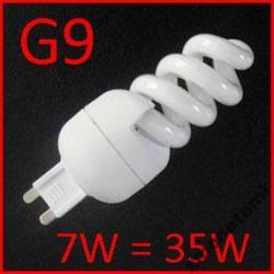Świetlówka spiralna G9 halogen 7W/35W 230V G 9
