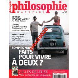 PHILOSOPHIE N 61.ETE 2012.G DELEUZE,P BRUCKNER