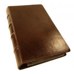WIZYTOWNIK na 200 WIZYTÓWEK KW-46/200S RETRO wykonany ze skóry naturalnej - wyrób wzorowany jest na starych księgach - kolekcja VIP TOMI GINALDI Wizytowniki i skorowidze