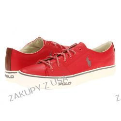 BUTY RALPH LAUREN CANTOR LOW RED SKÓRA