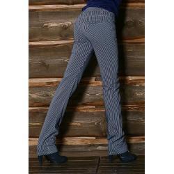 Spodnie rurki w paski