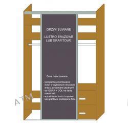 DRZWI SUWANE STAL LAKIEROWANA MONTREAL + LUSTRO BRĄZOWE/GRAFITOWE do szerokości 500mm