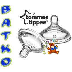Smoczek silikonowy do butel 0+ Tommee Tippee 2.szt