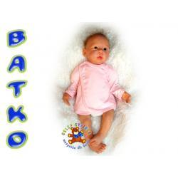 Batko Koszulka kolor gładka r.62 różowa !!