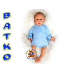 Batko Koszulka kolor gładka r.68 niebieska !!