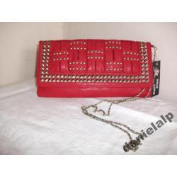 czerwona kopertówka - na ramię i do ręki