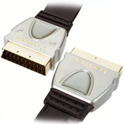 SCART Euro Gold24K OFC SLIM Prowire RGB FULL LTW