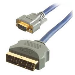 SCART -> VGA D-sub 5m RGB 24K OFC JAKOSC gw FV