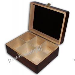 Powiew Afryki skrzynka, pudełko drewniane na herbatę -6 przegródek