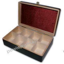 Powiew Afryki skrzynka, pudełko drewniane na herbatę -8 przegródek
