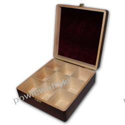 Powiew Afryki skrzynka, pudełko drewniane na herbatę -9 przegródek