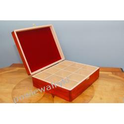Powiew Afryki skrzynka, pudełko drewniane na herbatę -12 przegródek