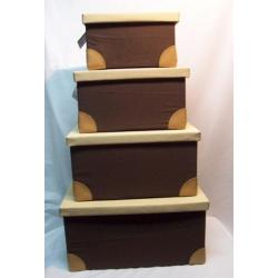 Zestaw 4 pudełka do przechowywania z materiału !