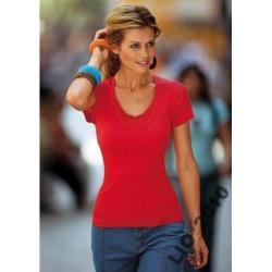 Bluzka z haftem 44 / 46 czerwona VIVIEN CARON