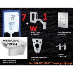 7W1 ZESTAW GROHE RAPID SKATE MISKA CLARO DESKA W/O