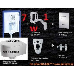7W1 ZESTAW GROHE RAPID SKATE MISKA VIVO DESKA W/O