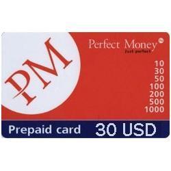 Opłacone karty-Perfect Money 30 USD