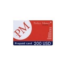 Opłacone karty-Perfect Money 200 USD