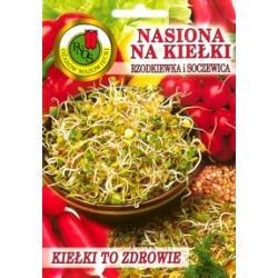 Nasiona na kiełki; RZODKIEWKA +  SOCZEWICA