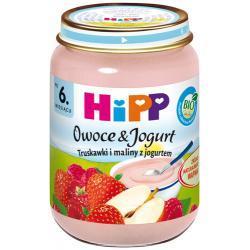 Hipp Truskawki i maliny z jogurtem  BIO po 6 m-cu 160g