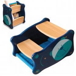 Drewniane schodki dla dziecka, stołeczek, stojak na gazety
