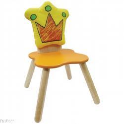 Drewniane krzesełko - Król