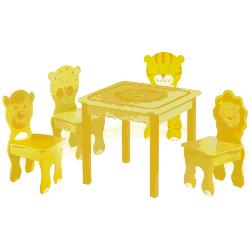Stolik z czterema krzesełkami - seria Dżungla