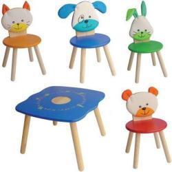 Krzesełko i 4 krzesełka - motyw Zwierzęta