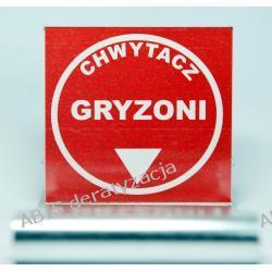 """ETYKIETY OSTRZEGAWCZE EChG-2 """"CHWYTACZ GRYZONI"""""""