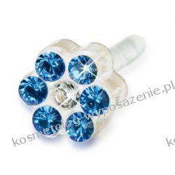 Kolczyk do przekłuwania uszu - niebieski 12-0114-43 DAISY 5mm Sapphire/ Crysta