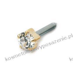 Kolczyk do przekłuwania uszu - Złoty tytan medyczny Tiffany 4mm Crystal 12-1303-01