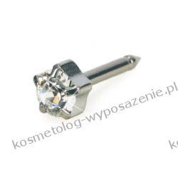 Kolczyk do przekłuwania uszu - Srebrny tytan medyczny Tiffany 5mm Crystal 12-1404-01