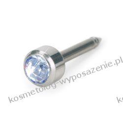 Kolczyk do przekłuwania uszu - Srebrny tytan medyczny Bezel 4mm Alexandrite 12-1401-06