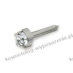 Kolczyk do przekłuwania uszu - Naturalny tytan medyczny Tiffany 4mm 12-1203-01