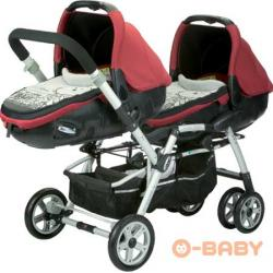 wozek dla blizniat  Jane Twin Two Buggy -Set