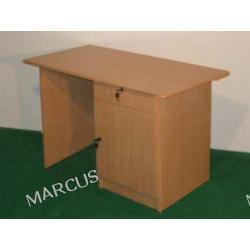 Biurko jednoszafkowe 120x60x75 z szufladą na wierzchu