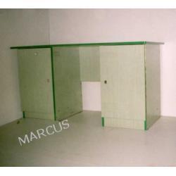 Biurko dwuszafkowe 140x65x75 (szuflada w jednej szafce)