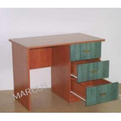 Biurko jednoszafkowe 120x60x75 z trzema szufladami
