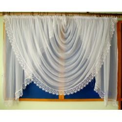 *45* Nowa firana - muszla, gipiura 10 cm Firany gotowe