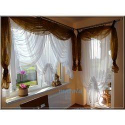 *20* Nowa dostojna firana z gipiurą -okno + balkon Firany gotowe