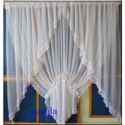 215 Nowa,elegancka firanka - okno tarasowe  Firany gotowe