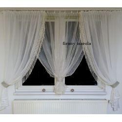 nowa firana biało-kremowa z gipiura - od ręki  Dom i Ogród