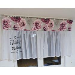 nowa firana z różami Dom i Ogród