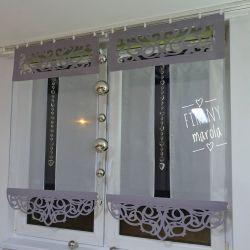 panel z ozdobnymi azurami kolory Firany gotowe