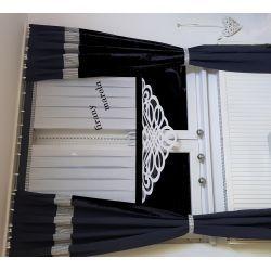 panel układany z azurem i koralikiem Firany gotowe