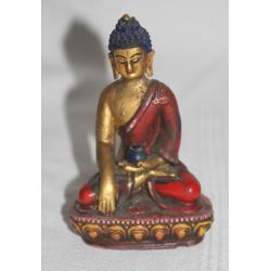 ZŁOTY BUDDA - figurka - ceramika NEPAL buddyzm