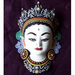 Maska - BIAŁA TARA @ papier mache NEPAL buddyzm
