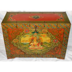 Piękna Duża SKRZYNIA !!DZAMBHALA!! Buddyzm NEPAL